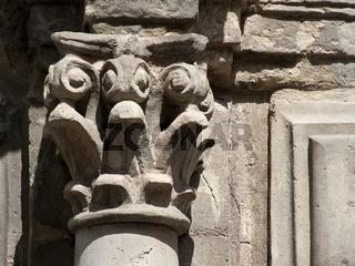 Barocksäule am Mausoleum zu Quedlinburg