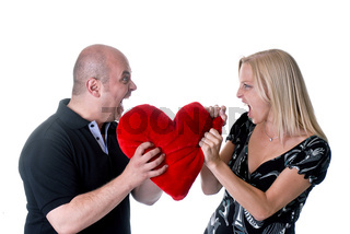 Paar das sich streitet