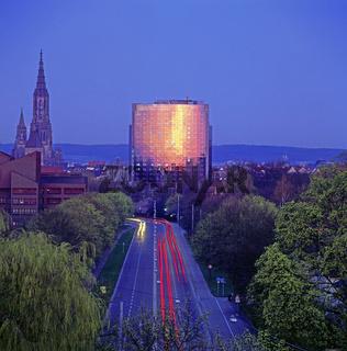 Maritim-Hotel, Ulmer Münster, Ulm, Baden-Württemberg, Deutschland, Europa / Maritim-Hotel, Ulmer minsters, Ulm, Baden-Württemberg, Germany, Europe