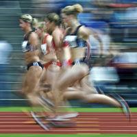 100m-Lauf der Frauen - Typical (verwischt)