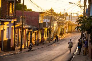 Cuban streetscene in afternoon light