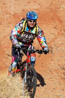 Smiler biker in downhill