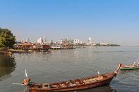 Pattaya Strand Blick Jomtien