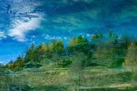 Aquarell durch Spiegelung