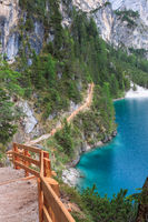 Hiking trail around Lake Braies