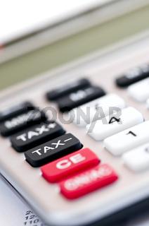 Tax calculator keypad