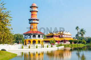 gazebo tower and china palace in Bang Pa In Park Ayutthaya