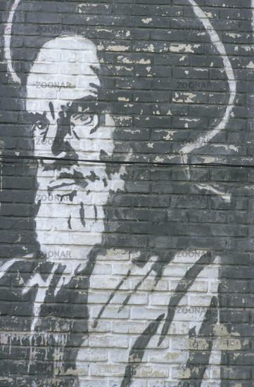 Ayatollah Chomeini, Wandgemälde, Iran