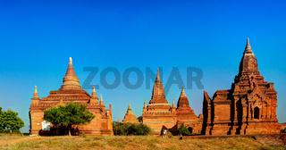 Walk in Bagan, small stupas, Myanmar
