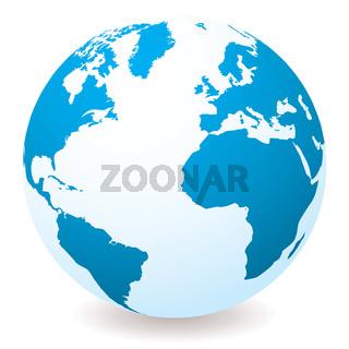 light blue globe