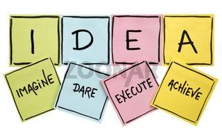 idea acronym - motivation concept