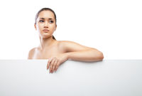 Beautiful face of woman with clean skin isolated