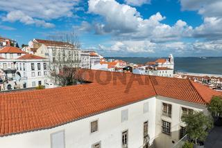 Panorama of Sao Vicente de Fora Monastery in Lisbon