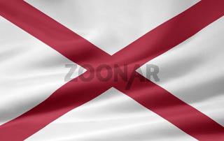Flagge von Alabama - USA
