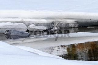 Welt des Eises auf dem Wasser