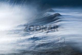 Mist Flowing over Cemoro Lawang