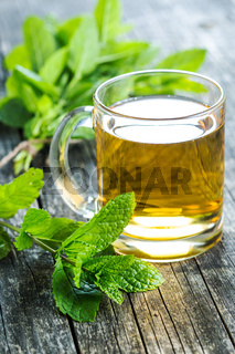 Tasty mint tea.