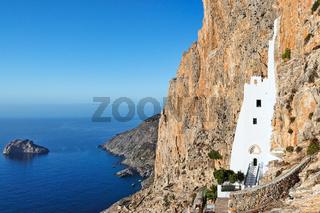 The monastery of Hozoviotissa in Amorgos, Greece