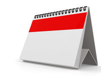 Blank red calendar isolated