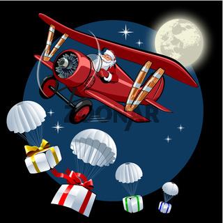 Cartoon retro Christmas card