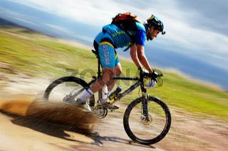 Adventure mountain bike competition