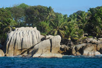 Die Granitfelsen auf Coco Island