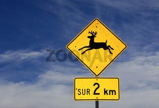 Verkehrszeichen Vorsicht Elche, Kanada