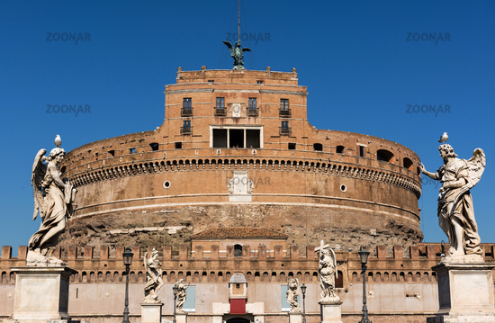 Castel Sant Angelo and Ponte Sant Angelo, Rome