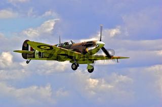 UK Duxford Spitfire V Landing