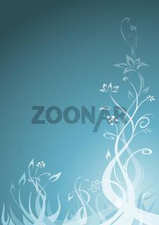 Floraler Hintergrund, türkis