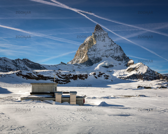 Matterhorn Peak in Zermatt Ski Resort, Switzerland