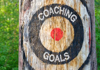 Coaching Goals - tree with target and text