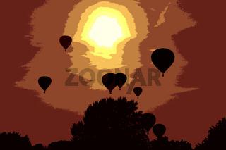 Abendflug im Ballon
