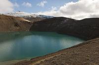 Island, der Krater Stóra Víti und Vulkan Krafla