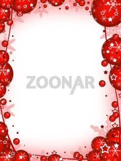 Weihnachten Postkarte rot