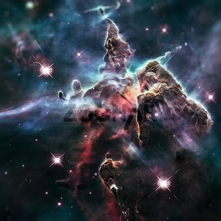 Mystic Mountain. Region in the Carina Nebula.