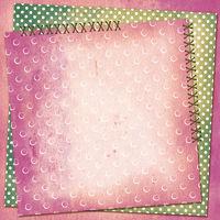 Grunge card for design polka dot background