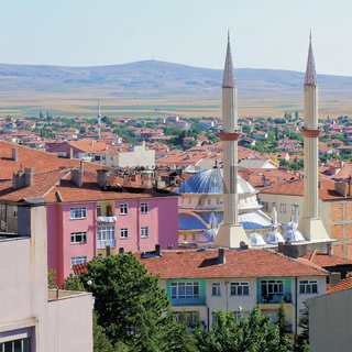 View of Sereflikochisar, Anatolia, Turkey with a mosque between the houses