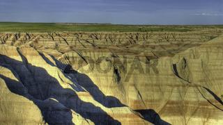 Eroded buttes, Badlands National Park