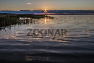 Sonnenaufgang am Koppelstrom (Halbinsel Fischland-Darß-Zingst)