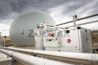 Wastewater treatment facility Gas tank