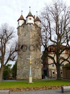 Fünfknopfturm in Schwäbisch Gmünd, Ostalbkreis, Baden-Württemberg,  Deutschland