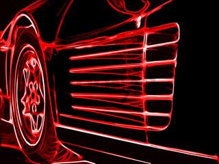 rotes Luxus Auto