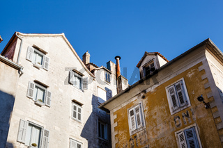 Yellow and White Houses in Split, Croatia