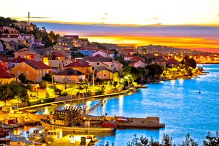 Golden sunset on Ugljan island coast