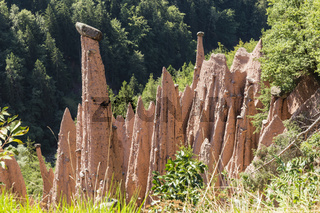 Rittner Erdpyramiden in Südtirol, Italien, earth pyramids, Renon, South Tyrol, Italy