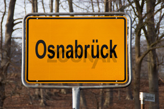 Ein Ortseingansschild Osnabrück
