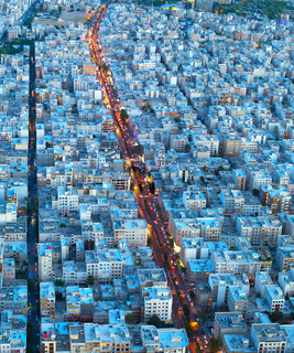 Tehran birds-eye view. Iran
