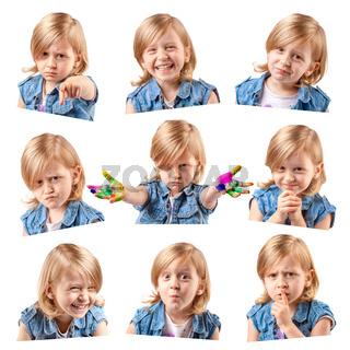 Cute little girl portraits