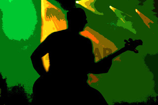 Bass guitar shadow